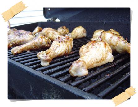 fusilli di pollo alla griglia