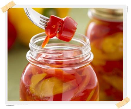 Ricetta dei peperoni e delle cipolline sottoaceto per la dieta Dukan