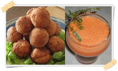 Ricette light: crocchette di salmone e centrifugato di verdure